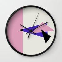 Misplaced Triangles Pastel // www.pencilmeinstationery.com Wall Clock