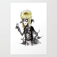 Burton Labyrinth Art Print