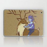 Deer and Girl Laptop & iPad Skin