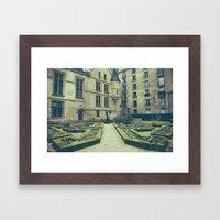 French Garden Maze IV Framed Art Print