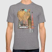 adventure days Mens Fitted Tee Tri-Grey SMALL
