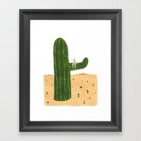 Cacti Princess Framed Art Print