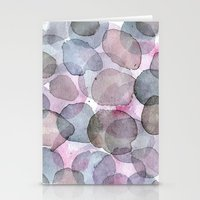 Purple Planets Stationery Cards