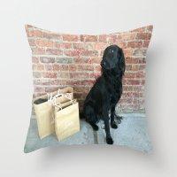 Puppy LOUBe Throw Pillow