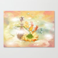 Duft der Blume - farbig Canvas Print