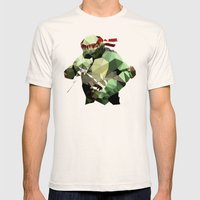 Polygon Heroes - Raphael Mens Fitted Tee Natural SMALL