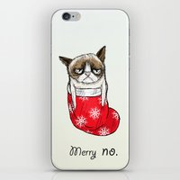 grumpy christmas iPhone & iPod Skin