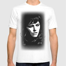 CLAUDIA SMALL Mens Fitted Tee White