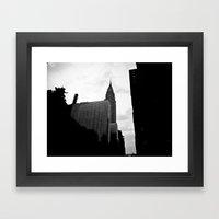 NEW YORK//SILHOUETTE Framed Art Print