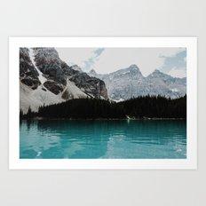 Lake Moraine, Banff National Park Art Print