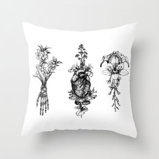 In Bloom - herbarium Throw Pillow