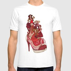 Ladies In Red White Mens Fitted Tee SMALL
