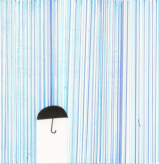 Mr. Invisible Doesn't Like Rain... Art Print