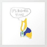 Business as usual Art Print