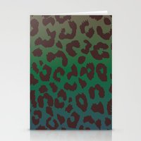 LEOPARD Hue-TAUPE GREEN … Stationery Cards