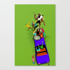 KungFu Werewolf vs Zombies from the 80s Canvas Print