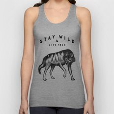 STAY WILD & LIVE FREE Unisex Tank Top