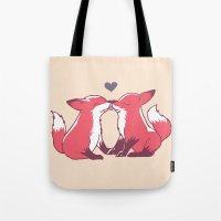 Fox Kisses Tote Bag