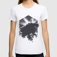 The Cosmic Gate Womens Fitted Tee Ash Grey SMALL