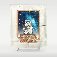 Bear Wars Vintage - Bear… Shower Curtain