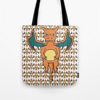 Charizard Character Art Graphic Design Tote Bag