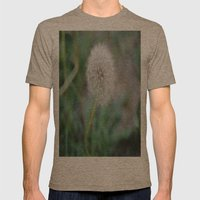 Lone Dandelion Mens Fitted Tee Tri-Coffee SMALL