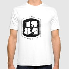 Fine Aged 1984 - Dark Mens Fitted Tee SMALL White