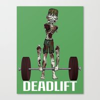 Crossfit Zombie By Ronky… Canvas Print