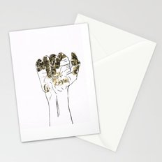 Golden hand Stationery Cards