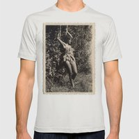 Garden Fairy Mens Fitted Tee Silver SMALL