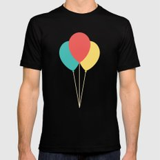 #45 Balloons SMALL Mens Fitted Tee Black