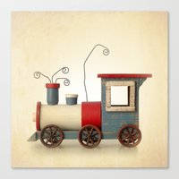 TOY TRAIN Canvas Print