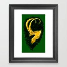 Loki's Helmet (Thor / the Avengers) Framed Art Print