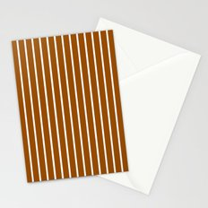 Vertical Lines (White/Brown) Stationery Cards
