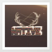 native Art Prints featuring Native by Pilgrim