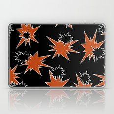 Stars (Orange & Black on Black) Laptop & iPad Skin