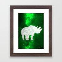 Space Rhino Framed Art Print