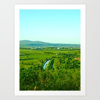 Dungarvan Fields Art Print