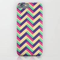 iPhone Cases featuring 3-D Chevron by Josrick