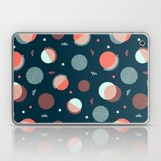 Navy Orbs Laptop & iPad Skin
