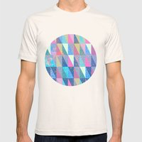 Candy Triangles Mens Fitted Tee Natural SMALL