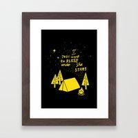 I Just Want To Sleep Under The Stars Framed Art Print