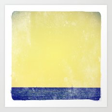 summer sail (yellow) Art Print