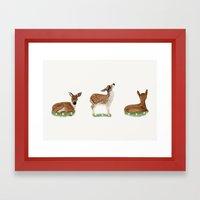 Deer Print Framed Art Print