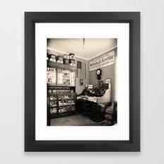 Circa 1930 depression era garage office Framed Art Print