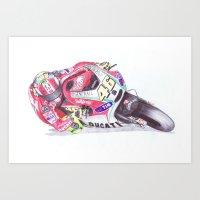 Ballpoint Pen, 46 , Valentino Rossi , The Doctor Art Print