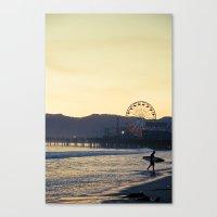 Santa Monica Surfer Canvas Print