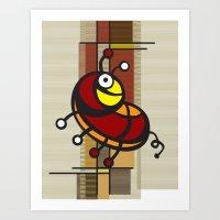 Deco Parrot Art Print
