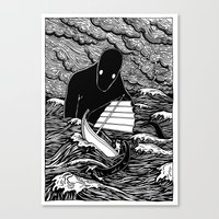 Umibōzu 海坊主 Canvas Print