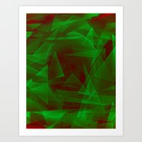 Green Eyed Monster Art Print